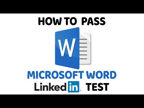 How To Pass Microsoft Word LinkedIn Assessment Test - YouTube