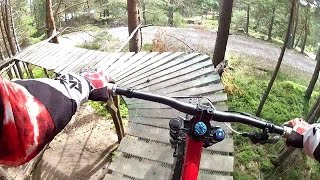 preview picture of video '[HD] BIKEPARK MANZANEDA 2014 - DOWNHILL GOPRO CHEST + HELMET'