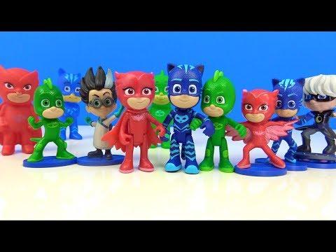4 Pijamaskeliler oyuncak tanıtımı Pijamaskeliler koleksiyonu peluş Baykuş Kız Kedi Çocuk Kertenkele