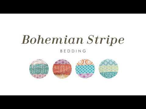 Bohemian Stripe 7 Piece Comforter Set