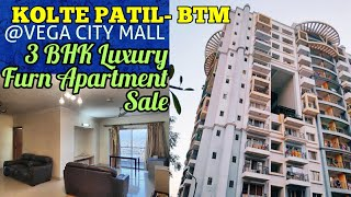 3BHK Furnished King Size Apartment For Sale in Kolte Patil BTM Layout near Vega City Mall