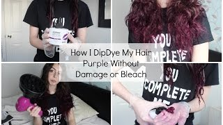 How I Dip-dye My Hair Purple Without Damage Or Bleach | Sophie Foster