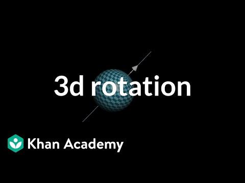 Describing rotation in 3d with a vector (video) | Khan Academy