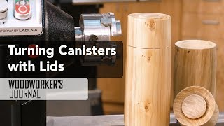 Turning a Canister and Lid on a Lathe | Laguna 1216 Midi Lathe
