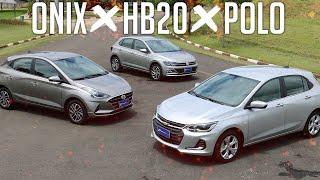 Comparativo Onix x HB20 x Polo