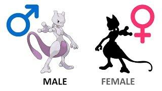 Gender of Mewtwo Evolution - Legendary Pokemon.