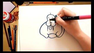 Como dibujar una Morsa - dibujos para niños
