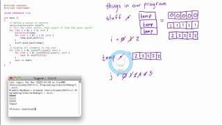 Vector of vectors - further clarification (C++ programming tutorial)