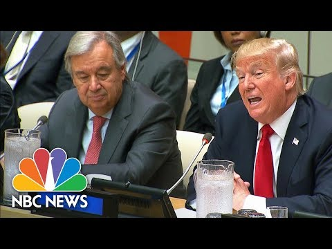 President Donald Trump Opens U.N. Reform Meeting With Call For Burden-Sharing | NBC News