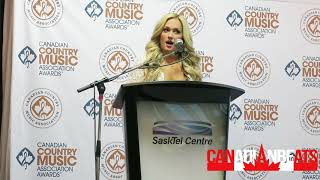 2017 Female Artist Of The Year, Meghan Patrick In The CCMA Awards Media Room