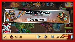 Knights and Dragons - EASY TOP 10 GUILD WAR OF THE CROWN!! w/Guild War Frenzy Tips & Tricks Guide