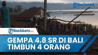 4 Orang Tertimbun Longsor di Desa Trunyan Kintamani, Akibat Gempa 4,8 SR di Bali