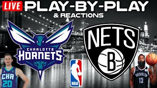Charlotte Hornets vs Brooklyn Nets   Live Play-By-Play & Reactions