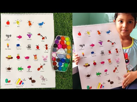 Finger Painting Art | Easy Thumb Painting Animals | Finger Painting A to Z