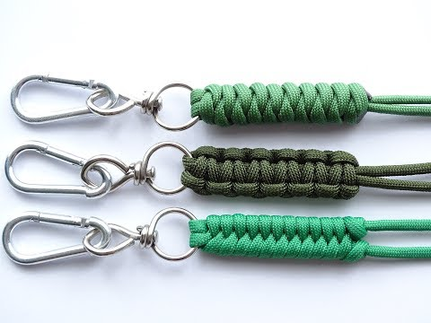 "DIY-Top 3 Easiest Paracord ""Neck-Knife-Keychain"" Lanyard - Cobra-Snake-Fishtail Knot – CBYS"