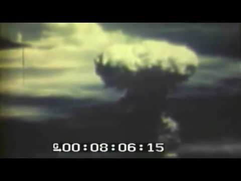 Footage of the atomic detonation over Nagasaki.
