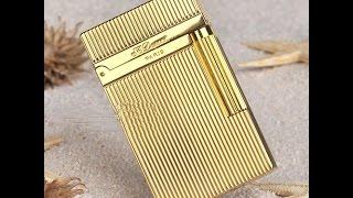Bật lửa Dupont kẻ dọc màu vàng D68 | Deva.vn | Giá 650.000 Đ
