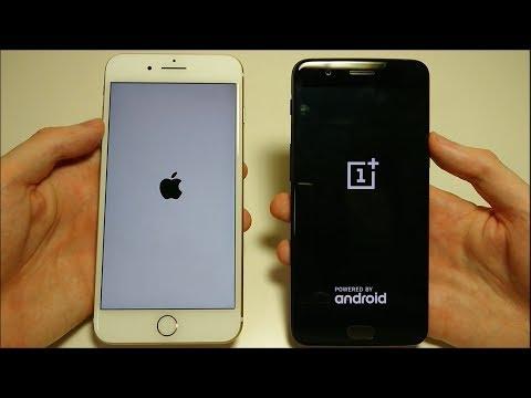 OnePlus 5 vs iPhone 7 Plus si sfidano in uno speed test molto competitivo