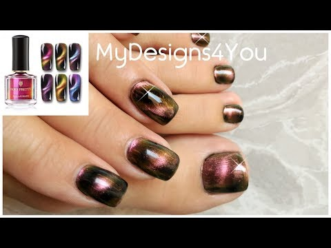 How To Cat Eye Effect | Bornprettystore Magnetic Polish ♥