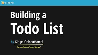 14. Building a Todo List App in React