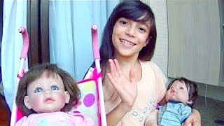 ROTINA DA MANHÃ DOS MEUS GÊMEOS ★ Brincando De Boneca Com Sofia E Henrique (Adora Doll E Reborn)