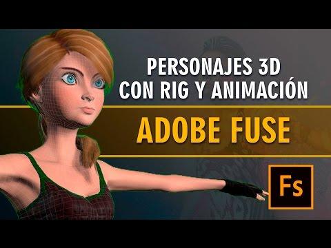 Personajes 3D con rig y animación en minutos con Adobe Fuse CC