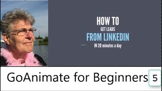 Animation for beginners Linkedin message in GoAnimate animation software