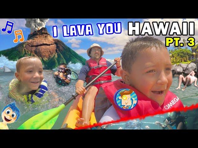 ♫ I LAVA YOU ♫ Kids Scuba Diving & Kayaking Near Hawaii Volcano (FUNnel Vision Trip - Maui Part 3)