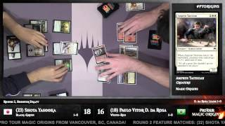 Pro Tour Magic Origins Round 2 (Draft) Shota Yasooka vs. Paulo Vitor Damo Da Rosa