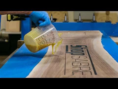 ShopSabre CNC – Live Edge Epoxy Table Project with IS Series 408 Routervideo thumb