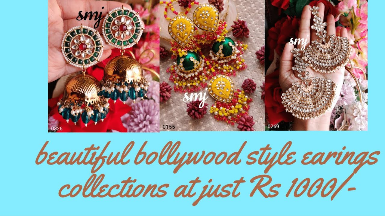 """<p style=""""color: red"""">Video : </p>Latest one gram gold earrings with price 1 gram gold jewellery with price Chandbali Earrings<br>"""