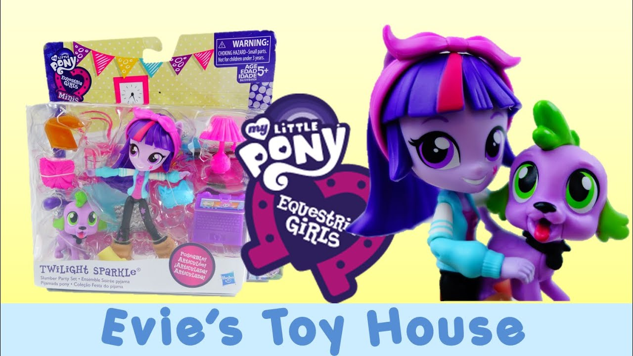 MLP Equestria Girls Minis Unboxing - Pinkie Pie's Slumber Party - Twilight Sparkle | Evies Toy House