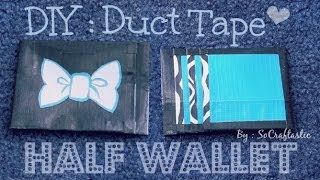 DUCT TAPE Half WALLET // Card Holder - How To | SoCraftastic