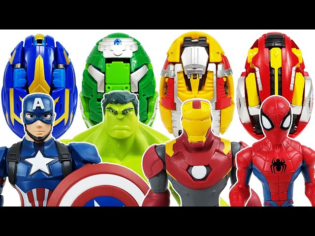Avengers, Carbot Kung Go~! Iron Man, Hulk, Spider-Man, Thor, Captain America, Thanos, Incredibles