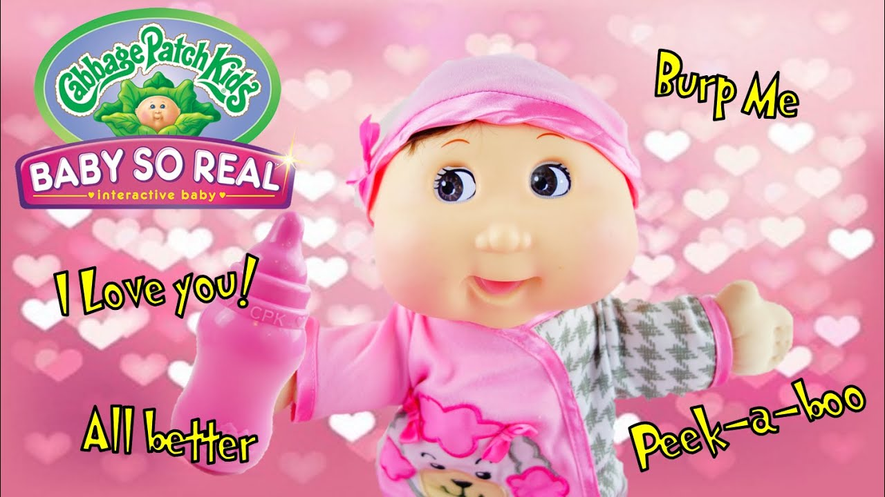 Cabbage Patch Kids - Baby So Real - Interactive Baby Doll with LCD eyes Review and Unboxing