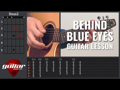Behind Blue Eyes guitar lesson | Limp Bizkit | Tabs & Chords