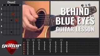 Behind Blue Eyes Guitar Lesson | Limp Bizkit | Tabs & Chords