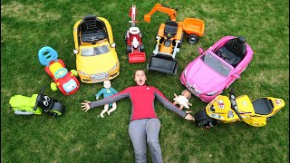 The wheel fall off on Power Wheels! Mommy Playing with Kids Funny Compilation