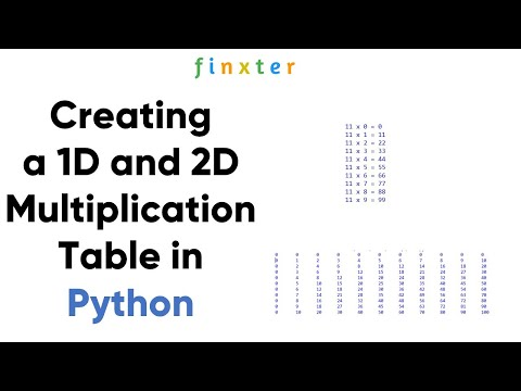 How to Display a 1D and 2D Multiplication Table in Python?