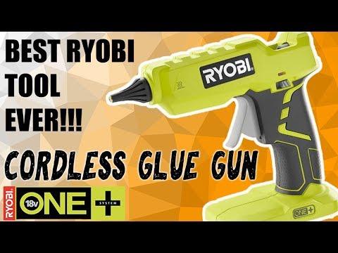 Ryobi Cordless 18 volt Hot Glue Gun | Review and Demo P305
