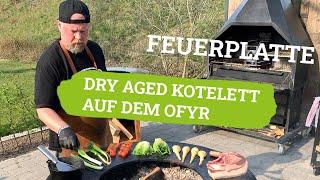 OYFR Grill   Kalieber Dry Aged Kotelett & mehr von der Feuerplatte
