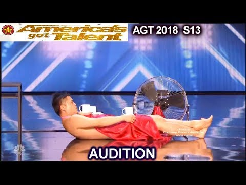 Wes-P /Mr Uekusa Naked Magician America's Got Talent 2018 Audition AGT (видео)