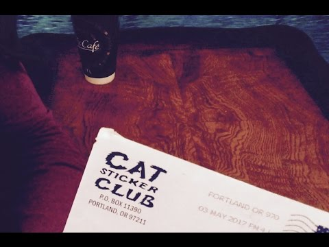 Cat Sticker Club May Subscription (They Donate $ To Help Animal Shelter) ASMR Whispers