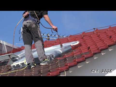 Dachbeschichtung, Dachversiegelung von der Fa  Kimm  Wolfhagen, in 4K von tubehorst1