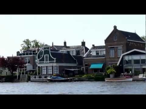 Netherlands Green wooden houses Zaandijk Noord-Holland Groene houten huizen Nederland