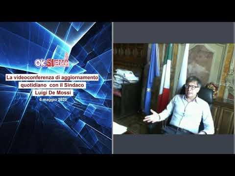 Luigi De Mossi - Videoconferenza di aggiornamento quotidiano con il Sindaco - 6 maggio 2020