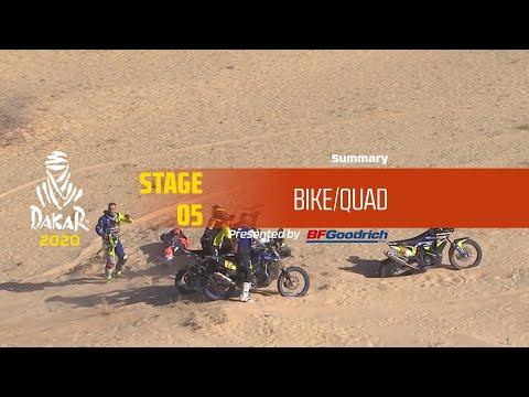 【ダカールラリーハイライト動画】ステージ5 バイク部門のハイライト