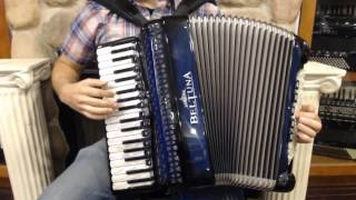 How to Play Blues and Zydeco on Piano Accordion - Lesson 1 - Blues Shuffle Groove