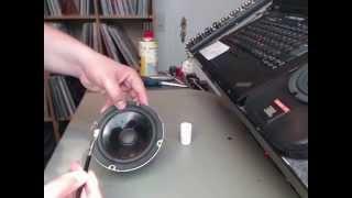 (HowTo) Reparatur Lautsprecher, Tausch der Sicke (Refoaming)  an einem JBL Control 1