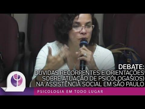 Debate: Dúvidas recorrentes e orientações sobre atuação de psicólogas(os) na Assistência Social em São Paulo
